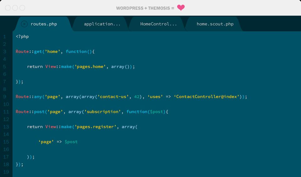 Themosis + WordPress Editor